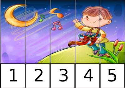 puzle de numeros 1-5 NENE