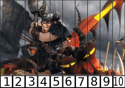 puzzle de numeros 1-10 hello ENTRENAR DRAGON