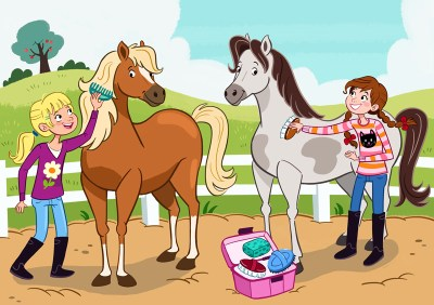 lamina expresion oral  nuestros caballos