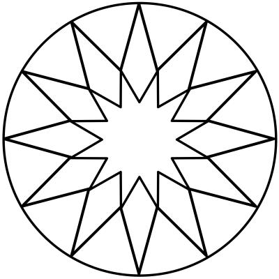 mandala estrella 9