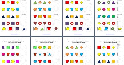 Actividades de cortar y pegar con formas geométricas EDITABLE