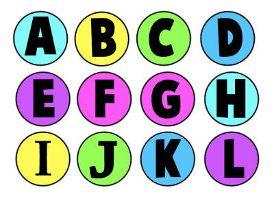 abecedario para tapones color  grande 1