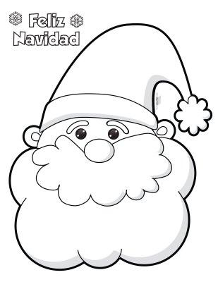 Manualidad navideña Santa Claus en algodon y bolitas de papel