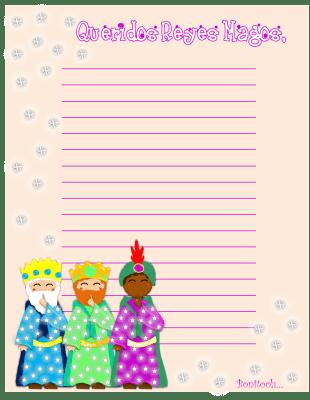 carta reyes magos BONITA