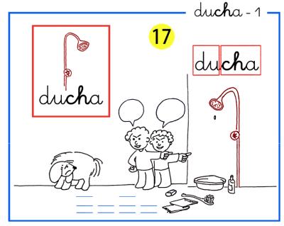 Completo método de lectoescritura paso a paso letra ch de ducha