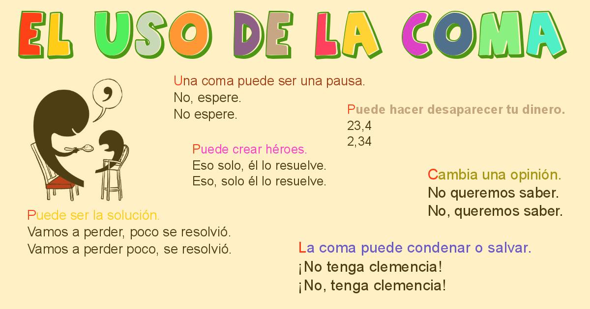 Ortografía La importancia y la riqueza en el uso de la coma.