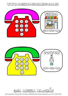 llamamos por telefono tarjetas de numeros de telefono 1