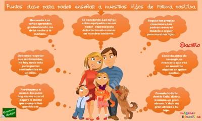 Puntos clave para poder enseñar a nuestros hijos de forma positiva 2