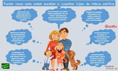 Puntos clave para poder enseñar a nuestros hijos de forma positiva