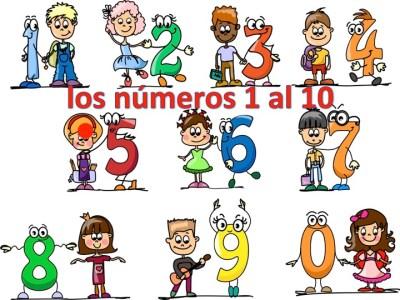 Aprendemos los números del 1 al 10 en español de forma divertida Video, láminas, Bits1