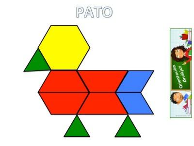 Trabajamos la atención con Pattern Block Mats o Teselas de colores PATO