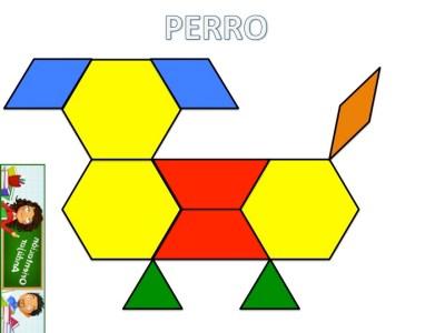 Trabajamos la atención con Pattern Block Mats o Teselas de colores PERRO