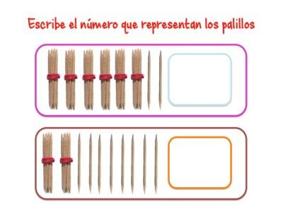 ABN Escribe el número que representan los palillos unidades de millar10