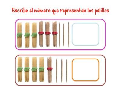 ABN Escribe el número que representan los palillos unidades de millar8