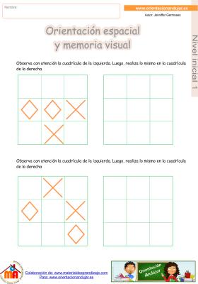 10 inicial 1 orientaci¢n espacial y memoria visual