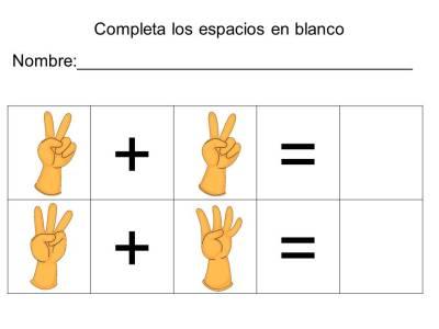 vamos a sumar con los dedos (20)