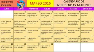 CALENDARIO INTELIGENCIAS MULTIPLES mes MARZO (1)