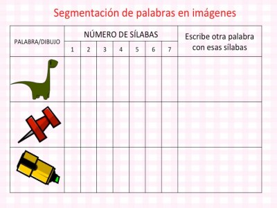 DISLEXIA Colección actividades segmentación de palabras en imágenes conciencia fonológica3