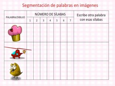DISLEXIA Colección actividades segmentación de palabras en imágenes conciencia fonológica5