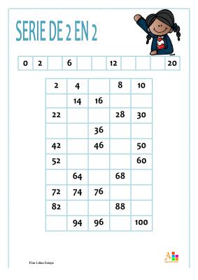 tabla del 2