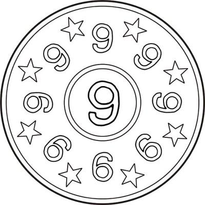 mandala-zahlen-neun