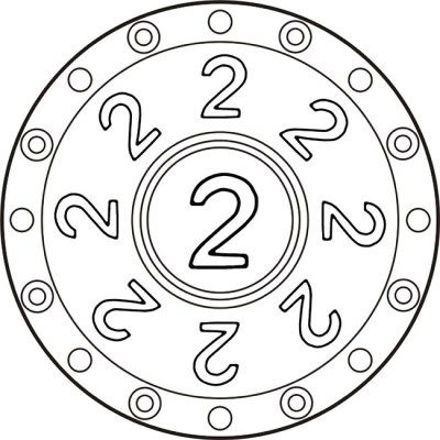 mandala-zahlen-zwei