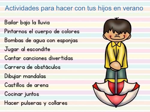 50 Actividades para hacer con tus hijos en verano 1