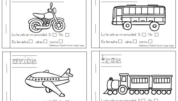 Mi Libro De Colorear De Medios De Transporte (2