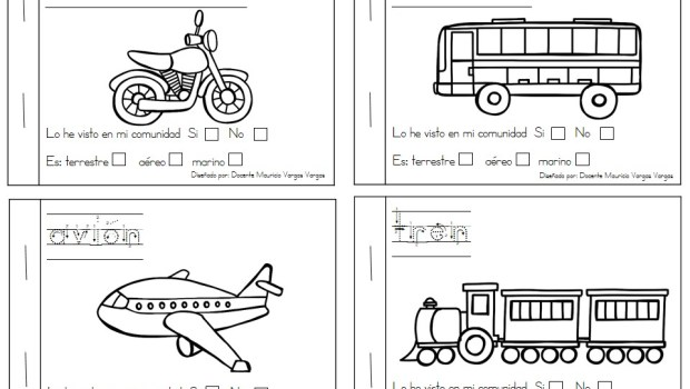 Mi libro de colorear de medios de transporte (2) - Orientación ...