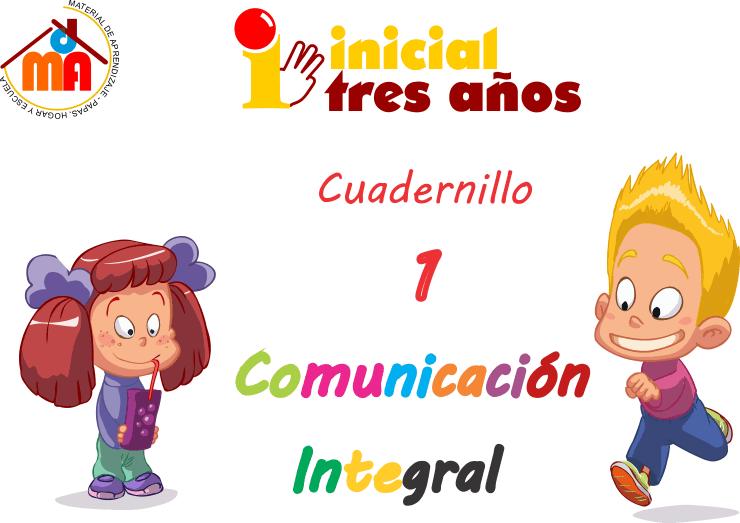 Super Cuaderno de Comunicación integral inicial 3 años 30 FICHAS ...