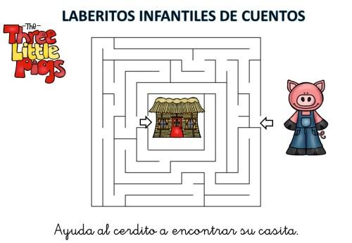 laberinto de cuentos infantiles los tres cerditos (1)