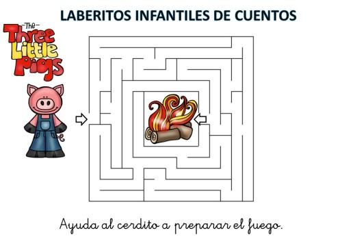 laberinto de cuentos infantiles los tres cerditos (2)