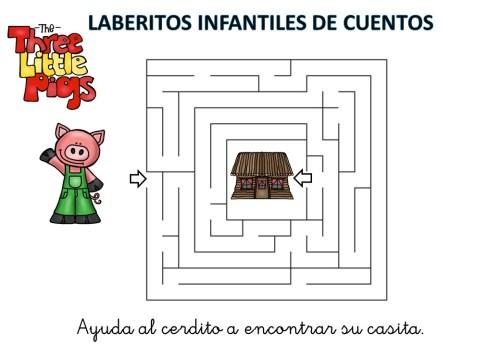 laberinto de cuentos infantiles los tres cerditos (4)