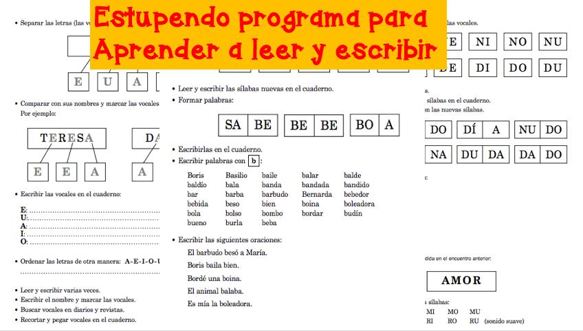 Estupendo Programa Para Aprender A Leer Y Escribir Orientacion Andujar