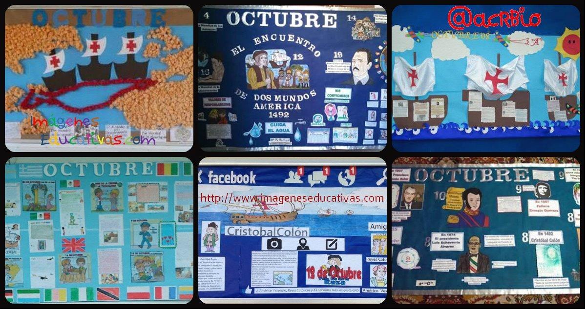 Super ideas para el peri dico mural del mes de octubre for Diario mural en ingles