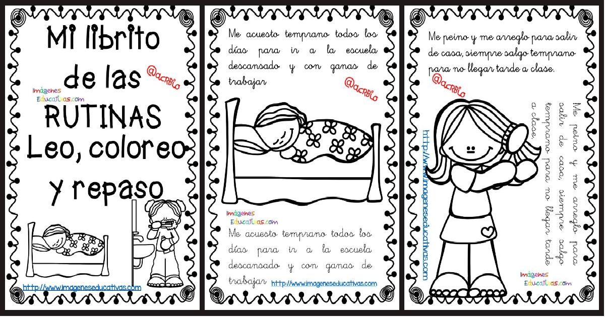 Dibujos Habitos De Colorear Higiene De Para