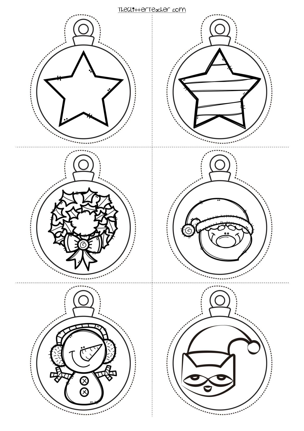Bolas De Navidad Para Imprimir 006