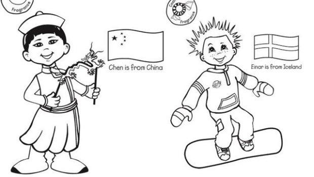 colorear chicos y chicas del mundo3 - Orientación Andújar - Recursos ...