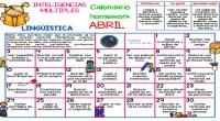 ABRIL 2017 Calendario homework: INTELIGENCIAS MÚLTIPLES: LINGÜISTICA. Gran formato Hoy os traemos esta maravillosa idea inspirada en los SUMMER HOMEWORK CALENDARS, muy típicos en la educación en casa y en […]