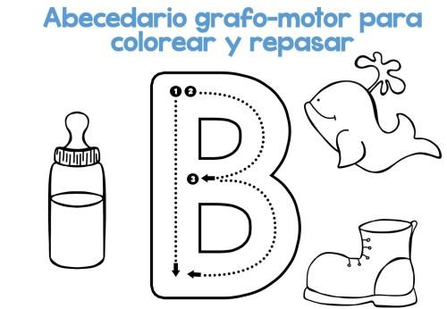 Completo Abecedario grafo-motor para colorear y repasar -Orientacion ...