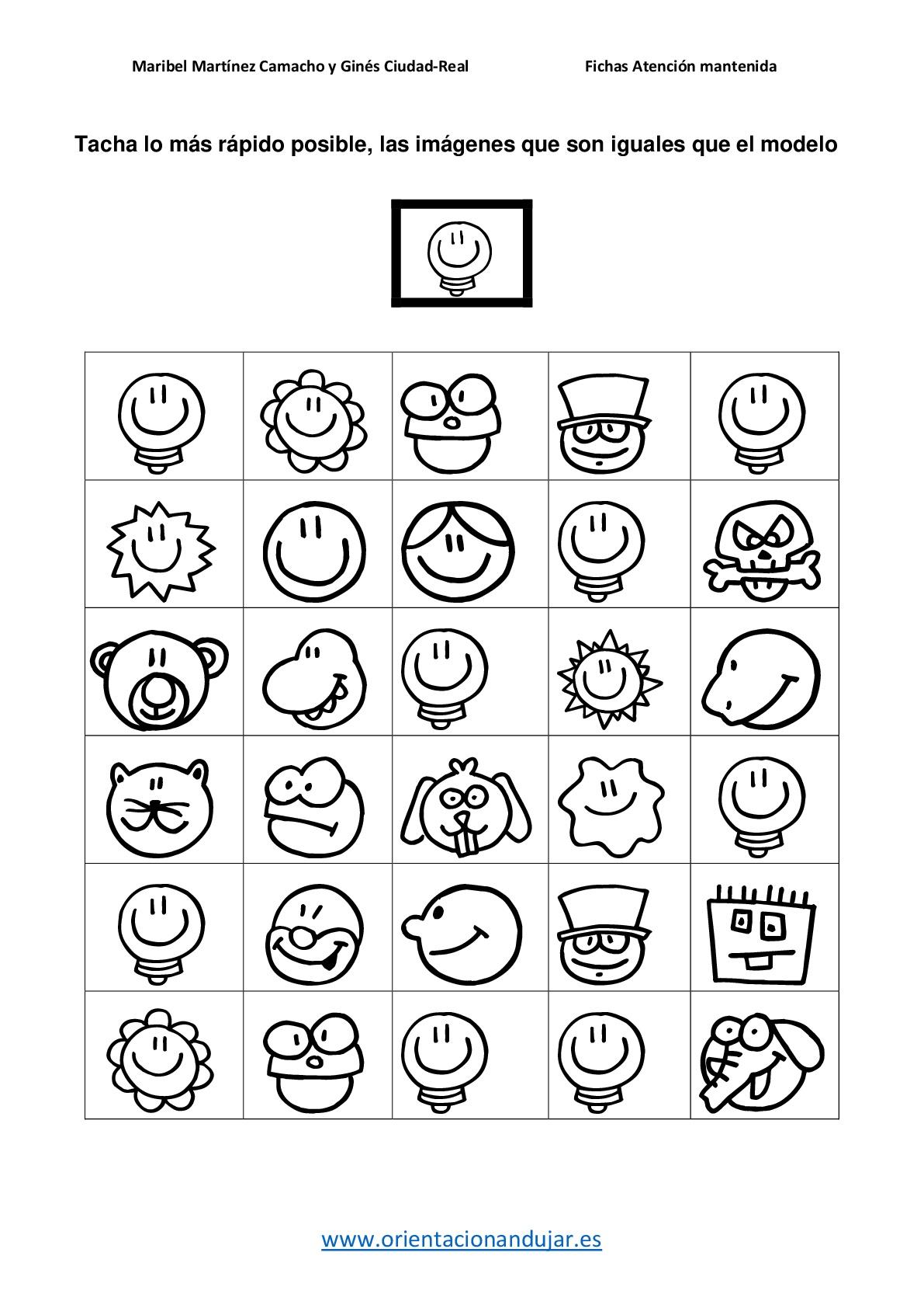 Visual Form Constancy Printable Worksheet