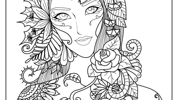 Adult Coloring Pages Hanaka