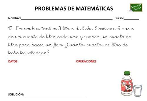 COLECCIÓN DE PROBLEMAS DE MATEMÁTICAS 3 º PRIMARIA -Orientacion Andujar