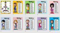 Os dejamos estos super carteles para decorar vuestras aulas con las tablas de multiplicar SUPER CARTELES DE LAS TABLAS DE MULTIPLICAR