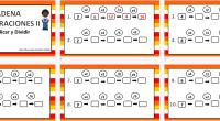 DESCARGA LAS ACTIVIDADES EN PDF CADENA DE OPERACIONES Multiplicar y Dividir