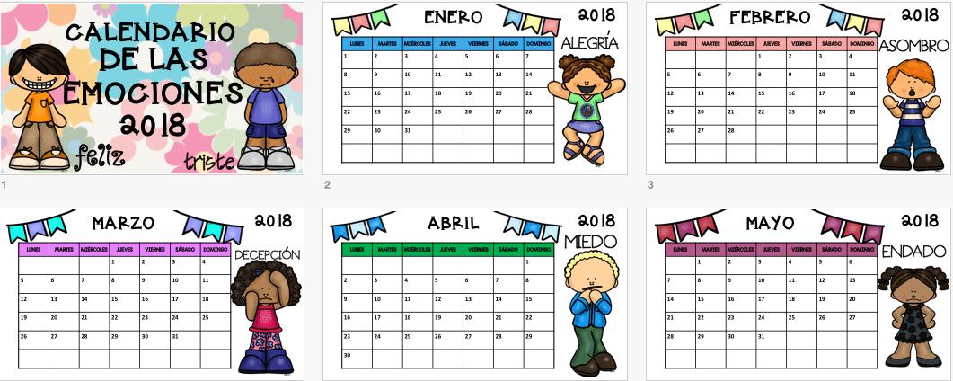 Calendario Autodromo Pedro Cofino 2019.Calendario 2017 Para Trabajar Las Emociones 17