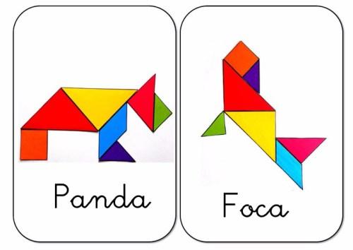 Tangram Figuras Para Imprimir Online De Animales Orientacion Andujar