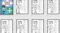 Sencillas fichas para trabajar las familias de los números. ENLACE PATROCINADO SUPER TABLA DEL 100  MUY RECOMENDABLE DESCARGA EL ARCHIVO EN PDF Competencia matemática Trabajamos las decenas