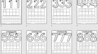 Os hemos preparado estas sencillas actividades para repasar el trazo de los números del 1 a 10, una forma sencilla y fácil de trabajar el conteo. Esperamos que os gusten.