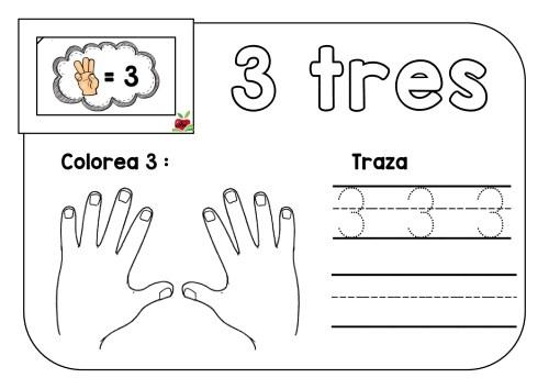 Dibujos Para Colorear Con Numeros Del 1 Al 10: TRAZA Y COLOREA TRABAJAMOS LOS NÚMEROS DEL 1 AL 10